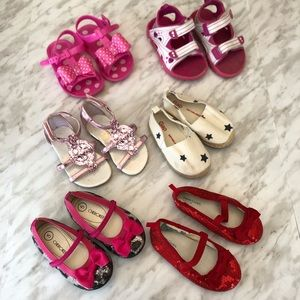 Lot of Toddler Girls Size 5 Sping/Summer Shoes